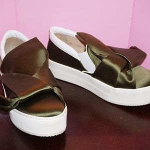NO 21 big bow platform shoes sneakers slip-on 39